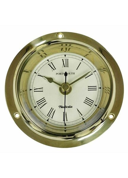 Nauticalia  Brass Portsmouth Clock