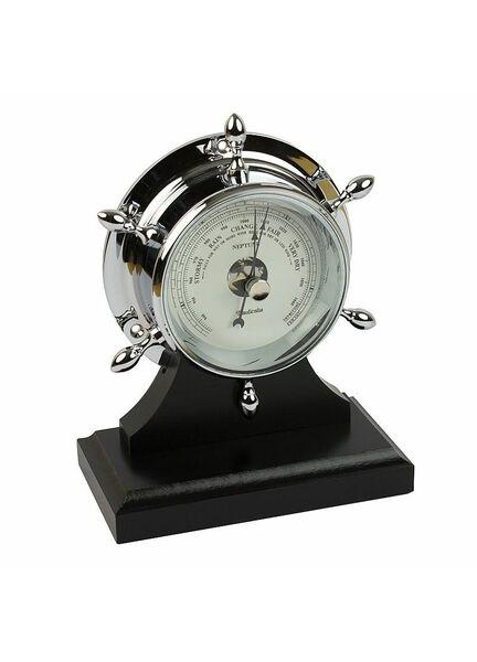 Nauticalia Chrome Neptune Barometer with plinth