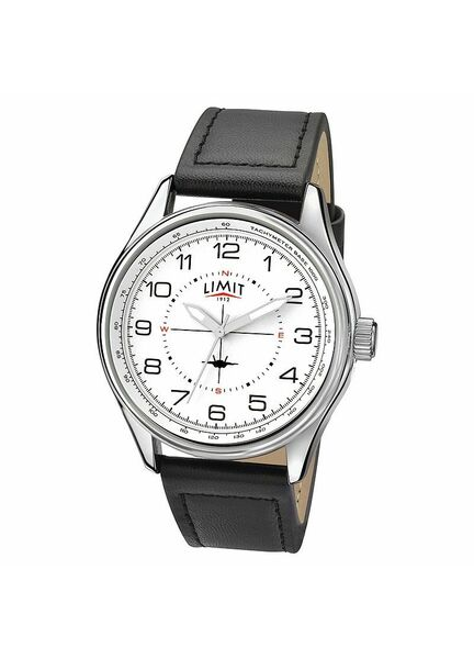 Limit Men's Pilot-style Plane Watch - Black/White