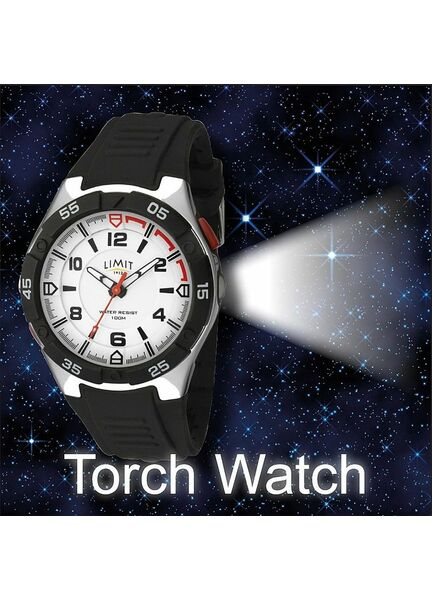 Limit Men's LED Torch Sports Watch - Black/White