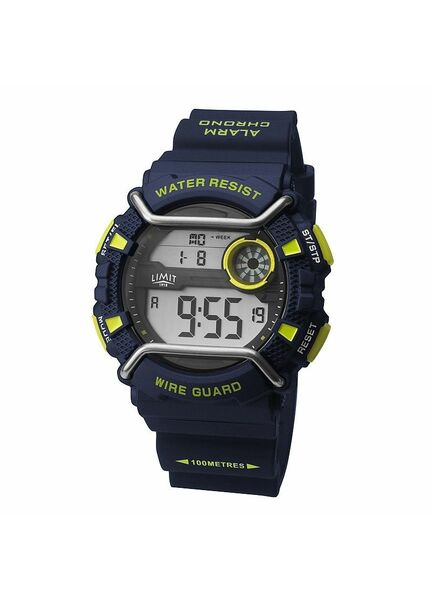 Limit Men's Wireguard Digital Watch - Navy/Green