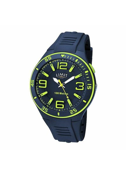 Limit Men's Luminous Sports Watch - Navy/Lime