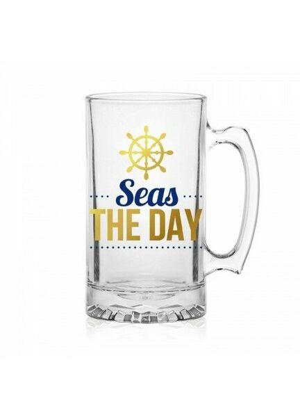 Nauticalia ''Seas the Day'' Pint Glass Tankard