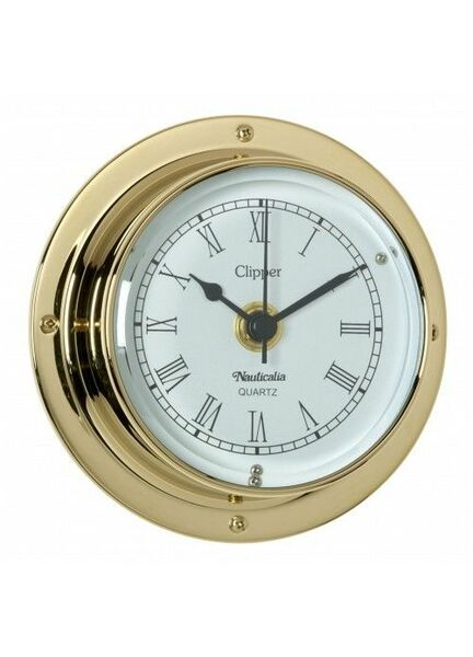 Nauticalia Clipper Clock (QuickFix) Brass