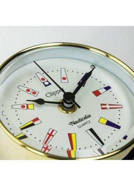 Nautialia Clipper Code Flag Clock (QuickFix) Brass