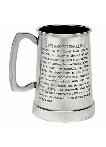 Nauticalia King\'s Shilling Engravable Tankard - 1 Pint