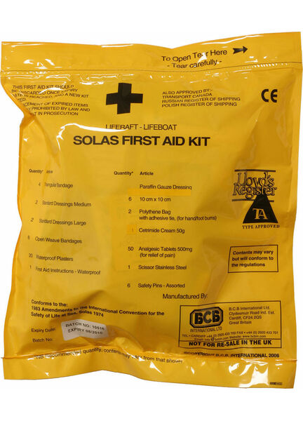 Ocean Safety SOLAS Liferaft/Lifeboat First Aid Kit
