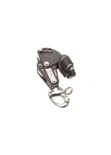 SINGLE SHEAVE SNAP SHACKLE PULLEY BLOCK MAX 12MM ROPE 58MM BARTON SIZE 4