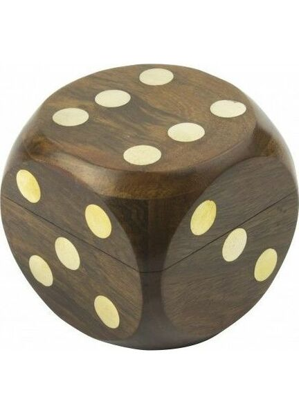Nauticalia Wooden Dice Box with Dice - 7cm