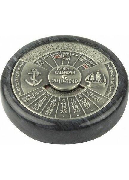 Nauticalia Chrome Marble Calendar - 40 Years