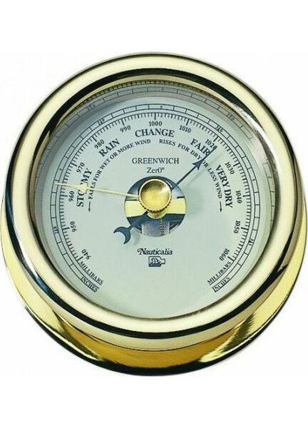 Nauticalia Greenwich Zero - Brass Barometer