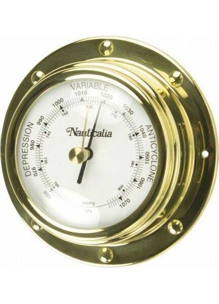 Nauticalia Brass Barometer (Rivet-style) - 10cm