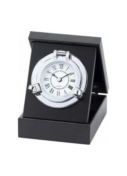 Nauticalia Chrome Porthole Clock/Box
