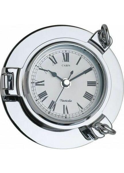 Nauticalia Chrome Cabin Clock