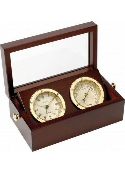 Nauticalia Brass Clock & Barometer Set