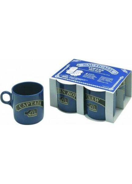 Nauticalia 4 Blue Stackable Mugs - 245ml