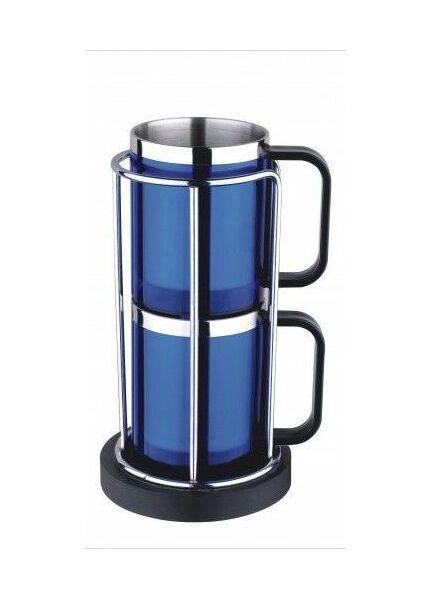 Nauticalia 2 Stackable Blue Mugs - 225ml