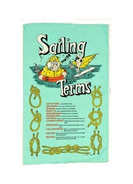 Nauticalia Galley Tea Towel - Sailing