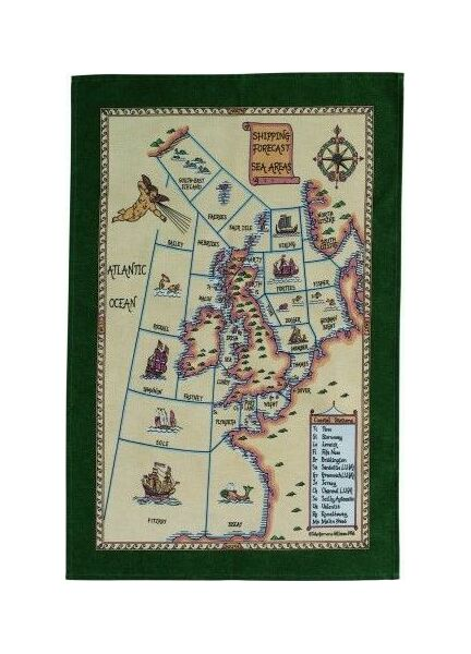 Nauticalia Shipping Forecast Areas Galley Dish Cloth