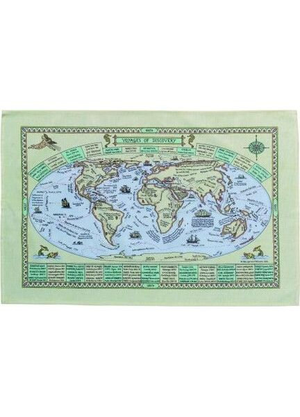 Nauticalia Galley Dish Cloth - World Map