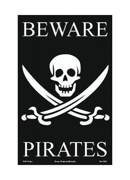 Nauticalia Galley Dish Cloth - Beware Pirates